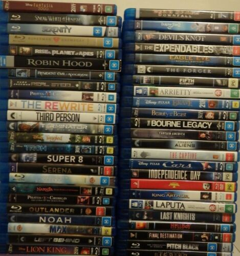 Bulk Blu-Ray DVDS Choose Your Title Mixed Genres Fast Free Post CHEAP Lots VGOOD