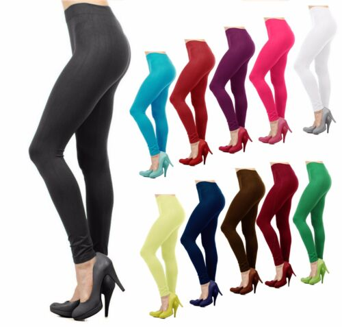Women Basic Seamless Solid Stretch Ankle Length Leggings