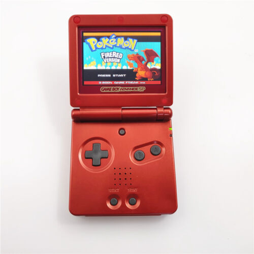 Limited Whole Full Red Game Boy Advance GBA SP AGS 101 Brighter Backlit Console