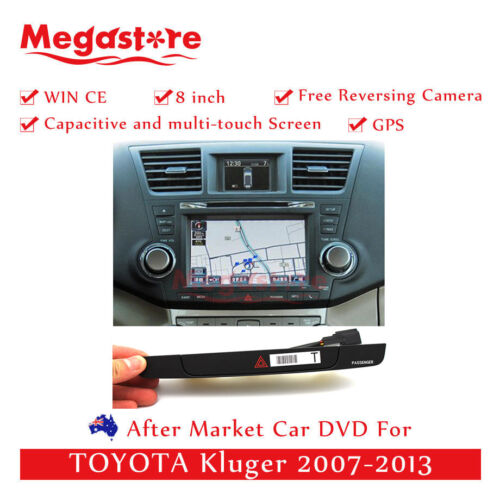 """8"""" Car DVD GPS Navi Head Unit With Hazard Button  For TOYOTA Kluger 2007-2013"""