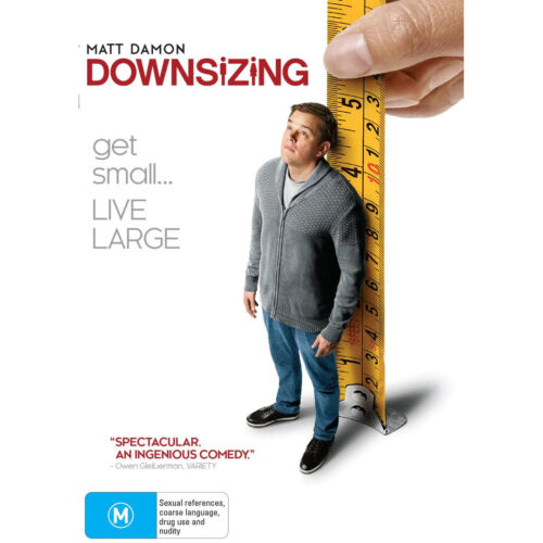 DOWNSIZING DVD, NEW & SEALED, 2018 RELEASE, REGION 4, FREE POST