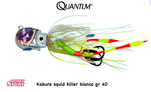 KABURA JIG - SQUID KILLER 40 GR BIANCO QUANTUM VERTICAL