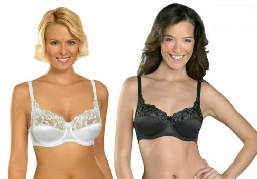 18DD | Naturana  Satin Lace Silk Underwear Bra H1-87543