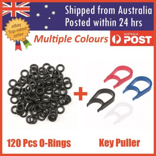120 Mechanical Keyboard Keycap Rubber O Ring Switch Dampeners + Key Cap Puller