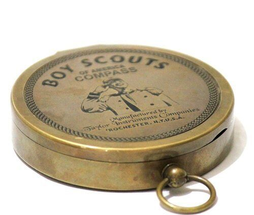 American Boy Scout Compass Antique Vintage Brass Compass By Asiannauticals