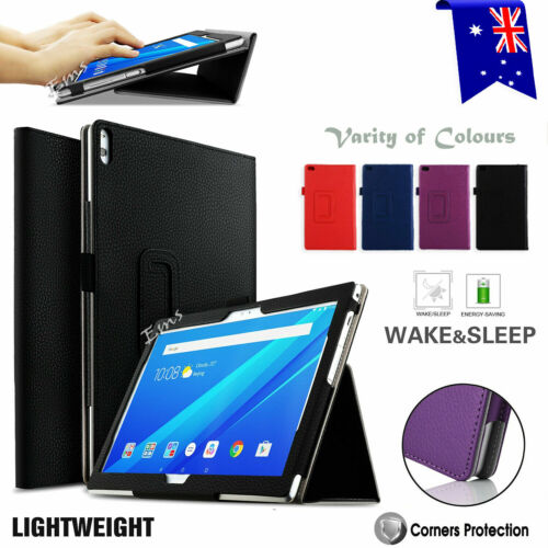 For Lenovo Tab E10 M10 FHD P10 4 8 10 Plus Case Leather Folding Stand Flip Cover