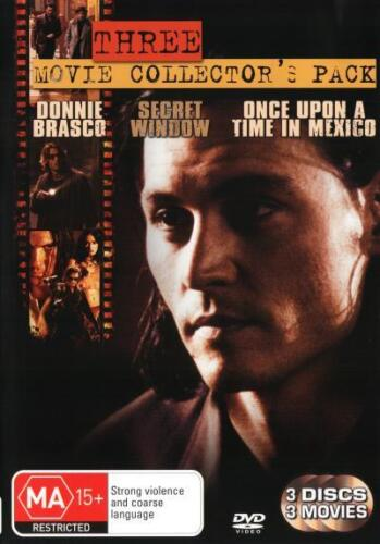 Donnie Brasco / Once Upon A Time In Mexico / Secret Window NEW DVD (Region 4)