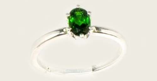 Chrome Diopside Ring 2/3ct Russia Yakutsk Emerald - Vesuvius Finland Macedon Gem