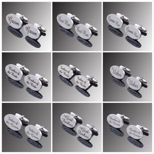 Silver Wedding cufflinks Groom Groomsmen Usher God Father Brother Son Best man  <br/> ✔Brand New ✔High Quality ✔Fast Delivery ✔Au Stock