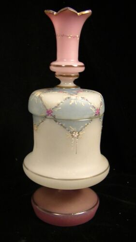 UNUSUAL FRENCH VICTORIAN OPALINE DRESSER JAR
