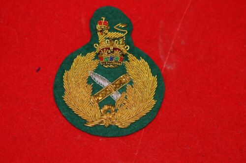 43f578823ee95  25.0 BRITISH ARMY WWII GENERAL OFFICER S BERET CAP BADGE BULLION WIRE ON  GREEN FELT Other Militaria -