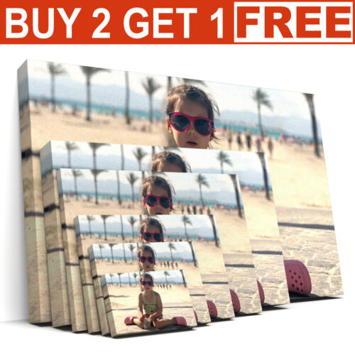 Custom Canvas Print Your Photo on Personalised Canvas Large Box Ready to Hang <br/> Buy 2 Get 1 FREE - Fast&Free Delivery - 100% Guarantee