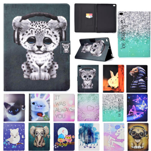 """Patterned Smart Leather Stand Card Case Cover For iPad 9.7 2017""""Air1 2 Mini10.5"""""""