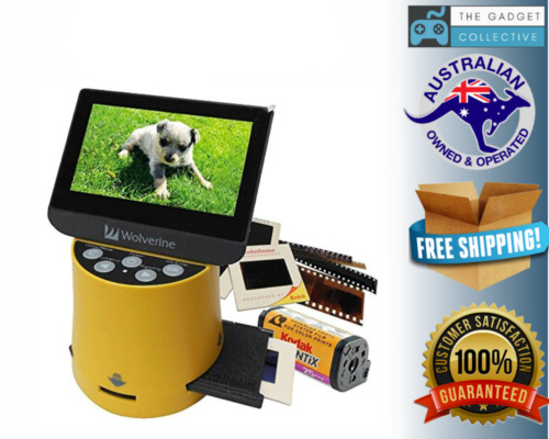 """Wolverine Titan 8-in-1 High Resolution Film to Digital Converter with 4.3"""" Scree"""