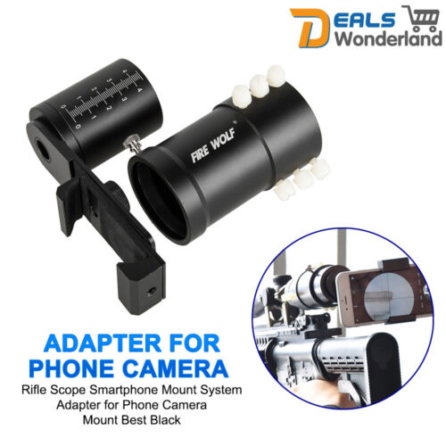 38-48mm Rifle Scope Smartphone Mount System Adapter for Phone Camera Mount + Bag