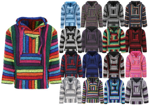 Unisex Mexican Baja Hoodies, Jergas, Mexican Threads Hoodie, Festival Clothing