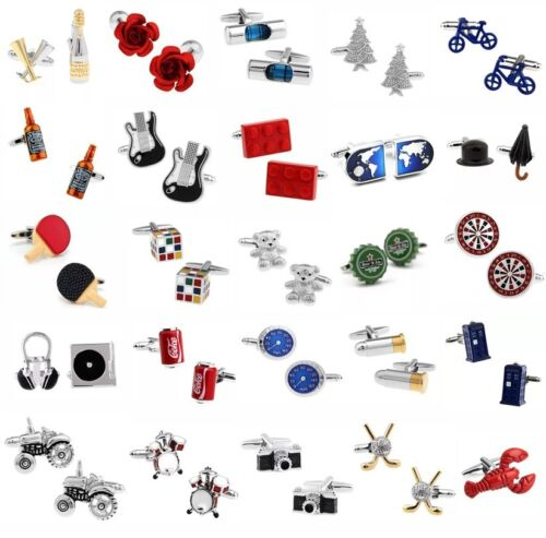 37 Styles Wedding Business Party Novelty men's fun cufflinks gift <br/> ✔Brand New ✔High Quality ✔Fast Delivery ✔Au Stock