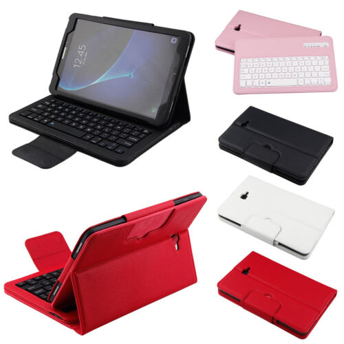 "Qwerty Bluetooth Keyboard Leather Case For Samsung Tab A A6 T580 T585 10.1"" 2016"