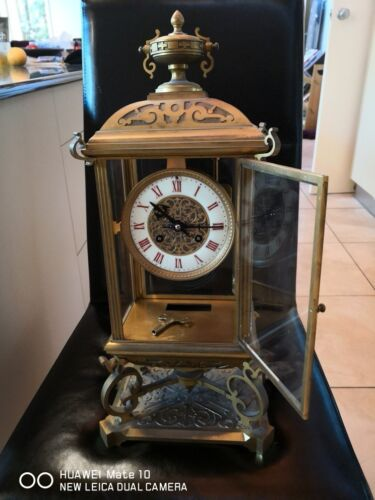 BEAUTIFUL WORKING FRENCH REGULATOR CLOCK WITH ORIGINAL MERCURY PENDULUM