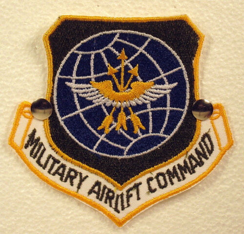 USAF Air Force Military Airlift Command Insignia Badge Patch Green Large Rare   Patches - 36078