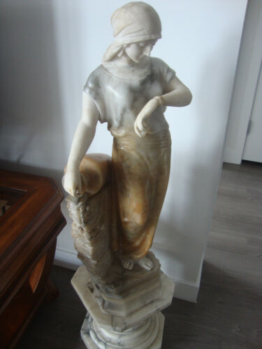 Antique Italy Marble Woman Statue