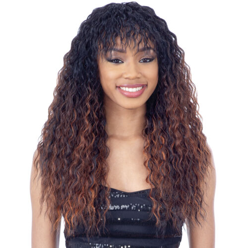 LIANA  - FREETRESS EQUAL SYNTHETIC FULL WIG LONG WAVY NATURAL BANG