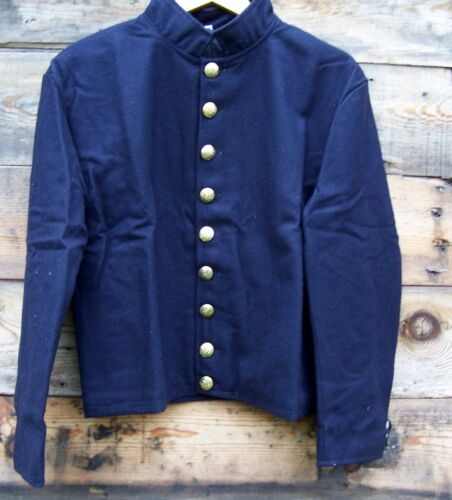 civil war union reenactor officers single breasted shell jacket 9 buttons 48Uniforms - 36041