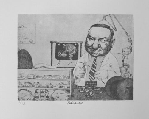 Charles Bragg Plate Signed Lithograph ORTHODONTIST