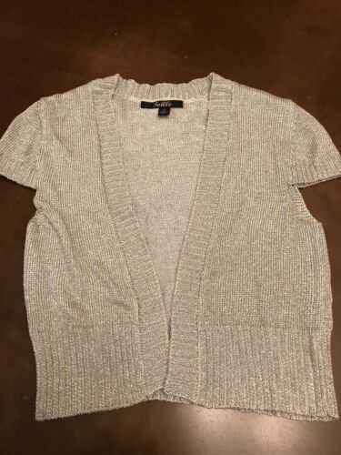 Silver Vest Type Top Girl's Size Medium By Toille