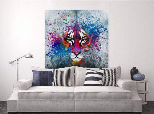 LION beautiful & colorful animals high quality Canvas painting  Home decor