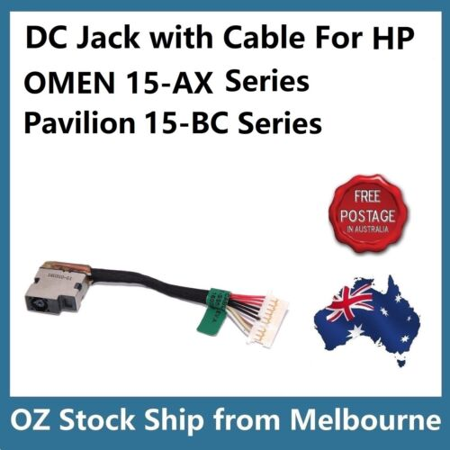 DC Power Jack Cable for HP OMEN 15-AX 15-AX007TX 15-BC 15-BC419TX 858021-001