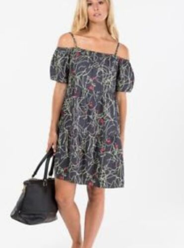 *NEW With Tags* SKAKUHACHI Tiered Face print dress rrp $190 Size 6