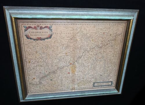 Antique Map of Rhine River Valley Germany - Coloniensis Archiepiscopatus (***)