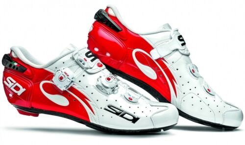 Sidi Wire Carbon Tecno 3 Push Vernice Road Shoes White/Red
