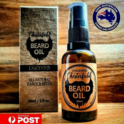 Chesterfield Beard Oil Unscented 30ml All Natural Conditioner Growth Care Style