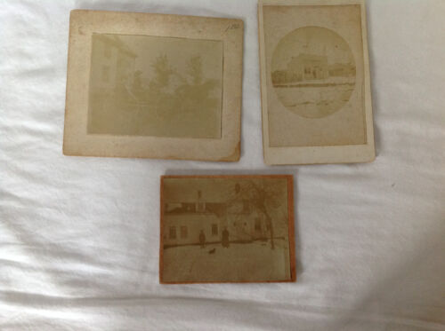Group of 3 Cabinet Card Style Photographs