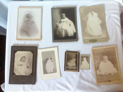 Lot of 8 Baby Cabinet Cards
