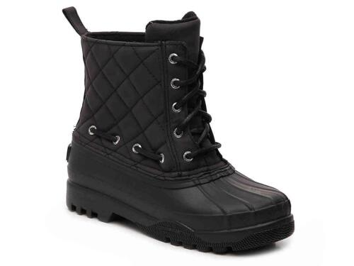 Sperry Topsider Women's Gosling Quilted Lace Up Cold Weather Boot | Black 8 9 10