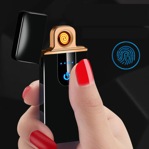 USB Electric Dual Arc Flameless Torch Rechargeable Windproof Cigarette Lighter B