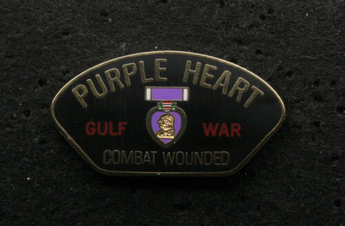 PURPLE HEART COMBAT WOUNDED GULF WAR HAT PIN US ARMY MARINES NAVY AIR FORCE USCGOther Militaria (Date Unknown) - 66534