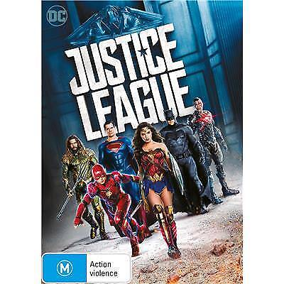JUSTICE LEAGUE DVD, REGION 4, NEW & SEALED, 2018 RELEASE, FREE POST