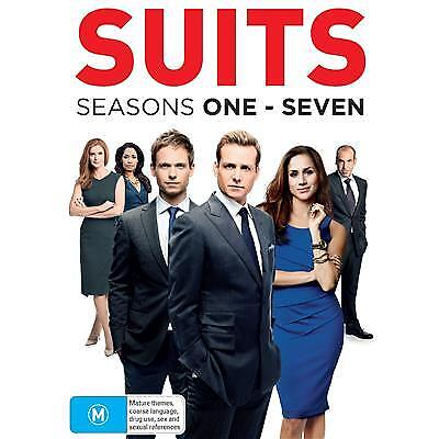 SUITS SEASONS 1-7 DVD, NEW & SEALED, 28 DISCS, REGION 4, FREE POST