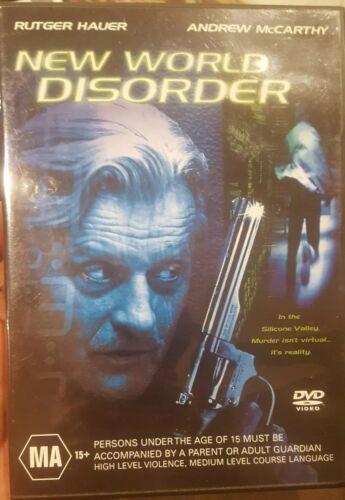 NEW WORLD DISORDER RARE DELETED DVD RUTGER HAUER & ANDREW McCARTHY SCI-FI FILM