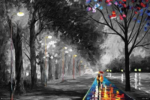ALLEY BY THE LAKE - LEONID AFREMOV - ART POSTER 24x36 - 11395