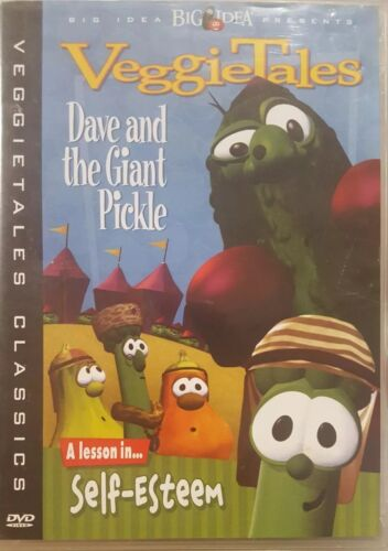 VEGGIETALES DAVE AND THE GIANT PICKLE RARE DELETED DVD A LESSON IN SELF-ESTEEM