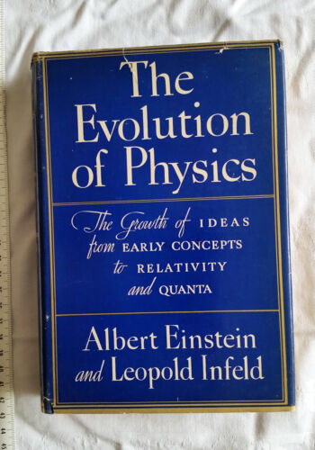 Einstein signed book. Very Rare. Fine.  Authenticated.The Evolution of Physics