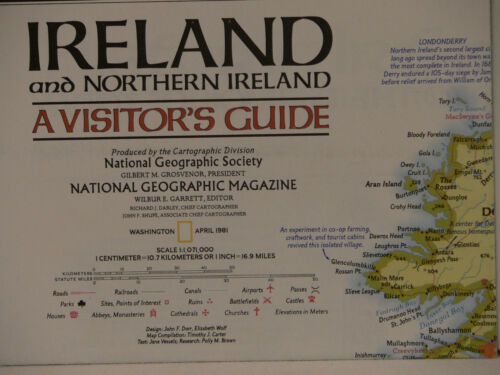 Vintage 1981 National Geographic Visiter's Guide Ireland and Northern Ireland