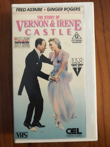 THE STORY OF VERNON & IRENE CASTLE FRED ASTAIRE  AS NEW RARE PAL VHS VIDEO