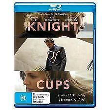 KNIGHT OF CUPS BLU RAY-NEW & SEALED TERENCE MALICK,CATE BLANCHETT CHRISTIAN BALE