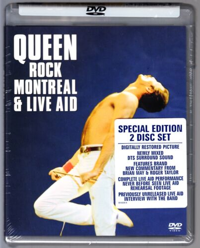QUEEN ROCK MONTREAL & LIVE AID DVD Region Free New & Sealed AND